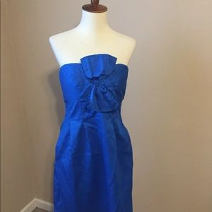NWT J. Crew size 2 blue cocktail dress strapless